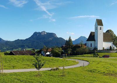 Panoramablick vom Rieplhof auf Steinkirchen (Samerberg)