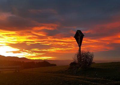 Sonnenuntergang Oberleiten